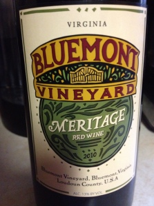 bluemont meritage front label
