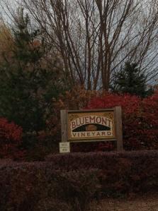 bluemont vineyards sign