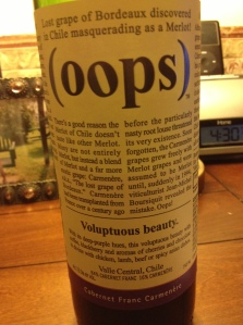 Oops 2011 - front label