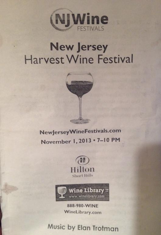 NJ wine festival 2013 pamphlet