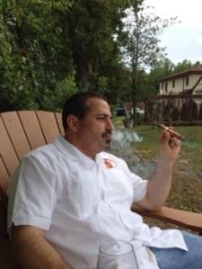 Enjoying a smoke on Humidor Hill