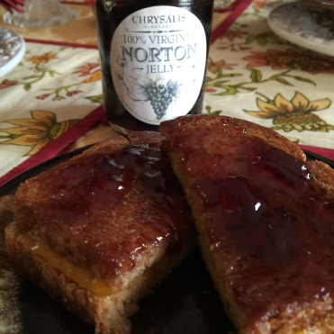 Norton jelly on grilled cheese